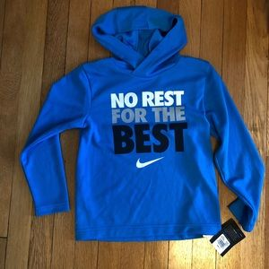 Nike Boys Dry Fit Active LS Hooded shirt Sz 6